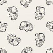 Bus doodle — Stock Vector