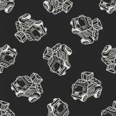 Lkw-doodle — Stockvektor