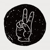 Gesture doodle — Wektor stockowy