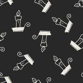 Doodle candela — Vettoriale Stock