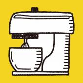 Doodle mixer — Stock Vector