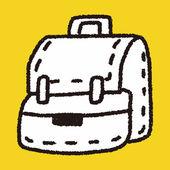 Doodle School bag — Stock Vector