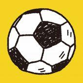 Doodle soccer — Stock Vector