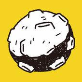 Doodle Meteor — Stockvector
