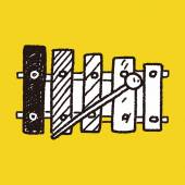 Doodle Xylophone — Stock Vector