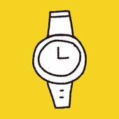 Doodle horloge — Stockvector