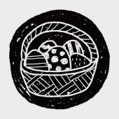 Paasei doodle — Stockvector