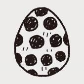 Easter egg doodle — Stockvektor