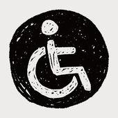 Chair wheel doodle — Stock Vector