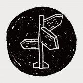 Doodle işaretleri — Stok Vektör