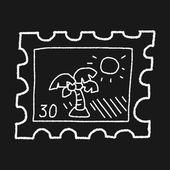 Doodle stamp — Vector de stock