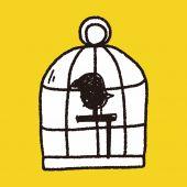 Doodle birdcage — Stock Vector