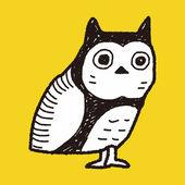 Owl doodle — Stock Vector