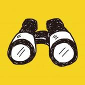 Binoküler doodle — Stok Vektör