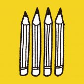 Doodle potlood — Stockvector