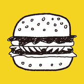 Doodle Hamburger — Stock Vector