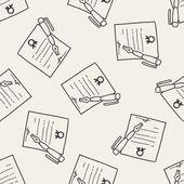 Certificate doodle — Stock Vector