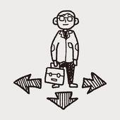 Business way doodle — Wektor stockowy