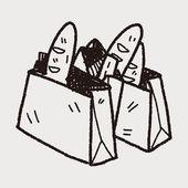 Borsa shopping doodle — Vettoriale Stock