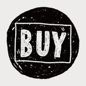 Doodle buy — Vector de stock
