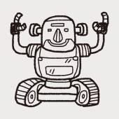ロボットの落書き — ストックベクタ