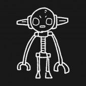 Robot doodle — Stok Vektör