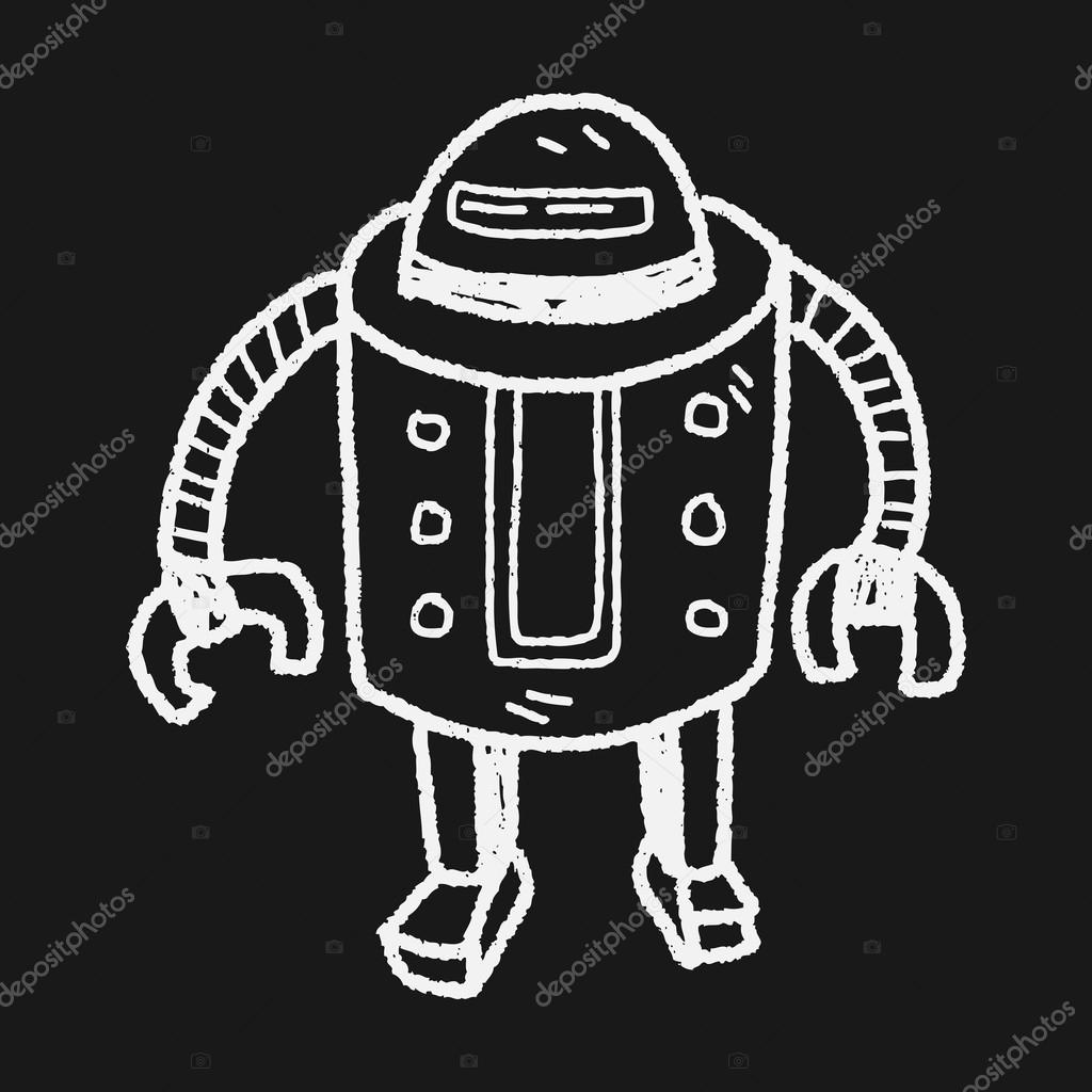 机器人涂鸦 — 图库矢量图像08