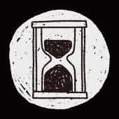 Time doodle — Stock vektor