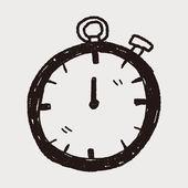 Garabato del tiempo — Vector de stock