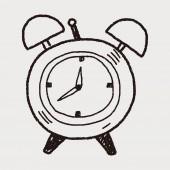 Rabiscos de tempo — Vetor de Stock
