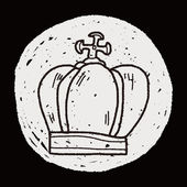 Doodle da coroa — Vetor de Stock