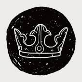 Kroon doodle — Stockvector
