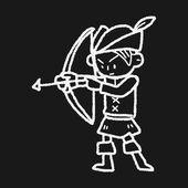Archer doodle — Stock Vector