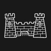 Castle doodle — Stock Vector