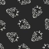 Fondo senza cuciture di doodle vescovo — Vettoriale Stock