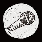 Doodle microfoon — Stockvector