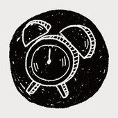 Doodle väckarklocka — Stockvektor