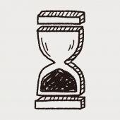 Каракули Песочные часы — Cтоковый вектор