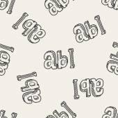 Typ abc doodle — Stock vektor
