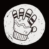 Winter gloves doodle — Stock Vector