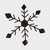 Snowflakes doodle — Stock Vector