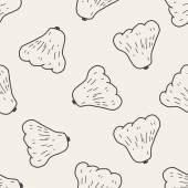 Wax apple doodle seamless pattern background — Cтоковый вектор