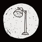 Лампа каракули — Cтоковый вектор