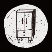 Cabinet doodle — Stock Vector