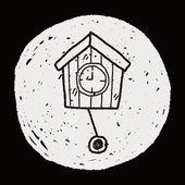 Klok doodle — Stockvector