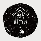 时钟涂鸦 — 图库矢量图片