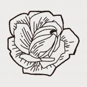 Rabiscos de flor — Vetor de Stock