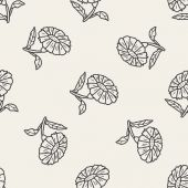 Flower doodle seamless pattern background — Vettoriale Stock