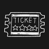 Ticket doodle — Stockvector