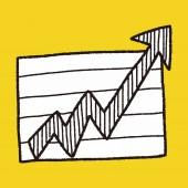 Dibujo de doodle gráfico infografía — Vector de stock